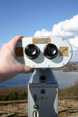 Binoculars view tourism — Stock Photo