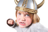 Viking child helmet isolated — Stock Photo