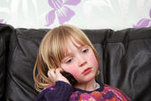 Child mobile phone — Stock Photo