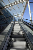 Escalator rolling stairs — Stock Photo