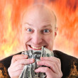 Avarice deadly sin of greed dollars — Stock Photo #4573914