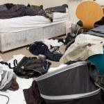 Bedroom messy room — Stock Photo