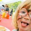 Face paint child birthday party — Stock Photo