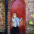 Stock Photo: Child secret door