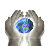 Heal planet earth hands — Stock Photo