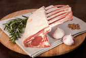 Lamb rack crown gourmet food — Stock Photo
