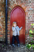 Child secret door — Stok fotoğraf