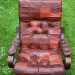 Leather armchair retro — Stock Photo
