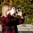 Child photographer photographing taking photo — Stock Photo #4818851
