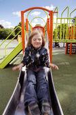 Child playground slide — Stock Photo