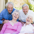 Group of senior friends relaxing together — Stock Photo #4752962