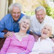 Group of senior friends relaxing together — Stock Photo