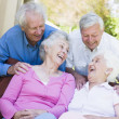 Stock Photo: Group of senior friends laughing