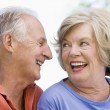 Senior couple relaxing outside — Stock Photo #4753024
