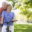 Senior couple on cycle ride — Photo