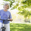 Senior womon cycle ride — Stock Photo #4753042