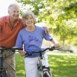 Senior couple on cycle ride — Stock Photo #4753046