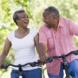 Senior couple on cycle ride — Stock Photo #4753073