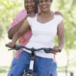 Senior couple on cycle ride — Stock Photo #4753078
