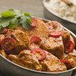 Chicken Chili Tikka Masala with Fragrant Basmati Rice - Stock fotografie