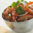 Royalty-Free Stock Photo: Dish of Tomato Red Onion and Coriander Relish