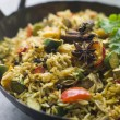 Vegetable Biryani in Large Karahi — Stock Photo #4753173