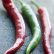 Stock Photo: Red and Green Chillies