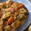 Chicken Bhoona in a Pewter dish — Stock Photo