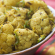 Green Chilli Fried Cauliflower - Stock Photo