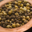 Dish of Roasted Salted Chickpeas - Stok fotoraf