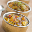 Stock Photo: Mango Chutney with Lime Pickle and Raita