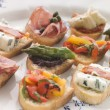 Plated Selection of Crostini - Lizenzfreies Foto
