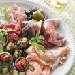 Stock Photo: Platter of Antipasto