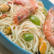 Bowl of Shellfish Linguine - Stock fotografie