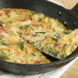 Slice of Courgette Fritatta - Stock Photo