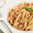 Stock Photo: Plate of Penne Arabriatta