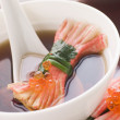 Clear Soup with Snow Crab Sticks — Stock Photo