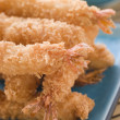 Deep Fried Breaded Japanese Tiger Prawns with Mirin Chili Dip - Stock Photo