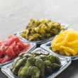 Stock Photo: Selection of Pickled Vegetables