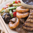 Stock Photo: Teppanyaki- Meat and Fish Barbeque Grill