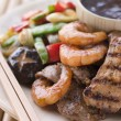 Teppanyaki- Meat and Fish Barbeque Grill — Stock Photo