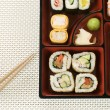 Selection of Sushi In a Bento Box - Foto Stock