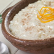 Orange and Cinnamon Rice Pudding - Stock Photo