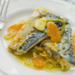 Plate of Sardine Escabeche - Stock Photo
