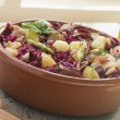 Potato Bacon and Pickled Red Cabbage Salad - ストック写真