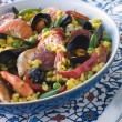 Bowl of Paella - Stock Photo