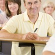 Male adult student listening to a university lecture — Stock Photo #4754350