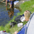 Couple camping in the great outdoors - Lizenzfreies Foto