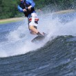 Stock Photo: Young mwater skiing