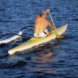 A man canoeing — Stock Photo